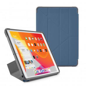 Pipetto iPad 7th Generation Navy Origami Shield Case - Hero