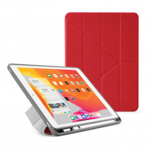 iPad 7th Generation Case 10.2 Cover Pencil Holder Red - Hero Image