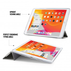 iPad 10.2 (7th & 8th Generation) Origami Case (TPU) - Silver