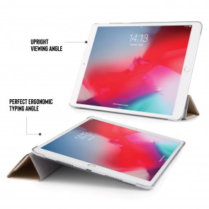 iPad Air 10.5 / Pro 10.5 Metallic Origami - Champagne Gold & Clear