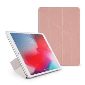 Pipetto iPad Air 10.5 / Pro 10.5 Origami Luxe Case Dusty Pink - Front