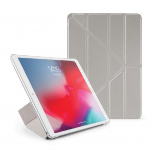 Pipetto iPad Air 10.5 / Pro 10.5 Origami Metallic Case Silver - Front
