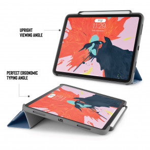 iPad Pro 11 (1st gen) Origami Pencil Case 5-in-1 Ruggedised Case - Navy