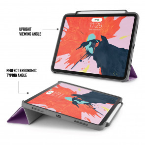 iPad Pro 11 (1st gen) Origami Pencil Case 5-in-1 Ruggedised Case - Purple