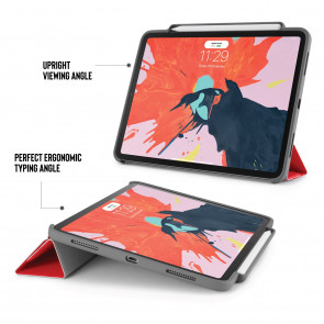 iPad Pro 11 Origami Pencil Case 5-in-1 Ruggedised Case - Red
