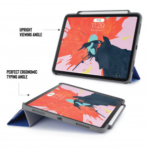 iPad Pro 11 (1st gen) Origami Pencil Case 5-in-1 Ruggedised Case - Royal Blue