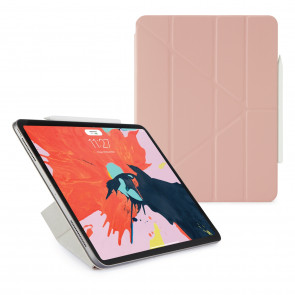 Pipetto 12.9-inch iPad Pro Origami Folio Dusty Pink - Hero