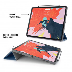 iPad Pro 12.9 (3rd Gen) Origami Pencil Case 5-in-1 Ruggedised Case - Navy