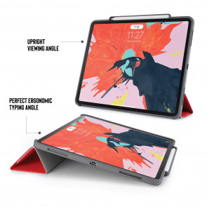iPad Pro 12.9 (3rd Gen) Origami Pencil Case 5-in-1 Ruggedised Case - Red