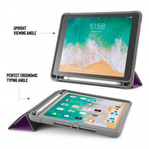 iPad 9.7 (2017/2018) Origami Shield with Pencil Holder - Purple