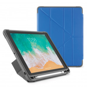 Pipetto iPad 9.7-inch Origami Shield Case Royal Royal Blue - Front