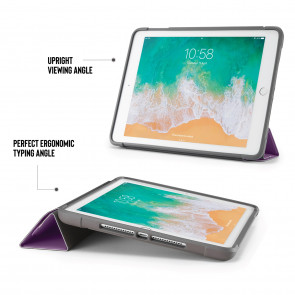 iPad 9.7 Case Origami Shield 5-in-1 Ruggedised Case  - Purple
