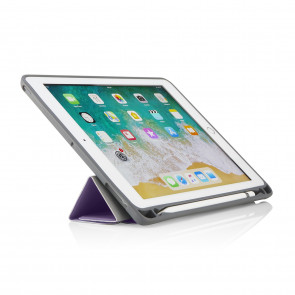 iPad 9.7 Origami Pencil Case 5-in-1 Ruggedised Case - Purple