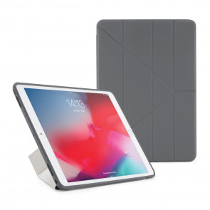 Pipetto iPad Air 10.5 and iPad Pro 10.5 Origami TPU Case Dark Grey and Clear - Front