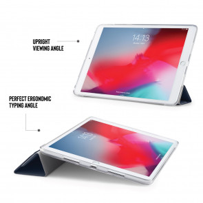 iPad Air 10.5 / Pro 10.5 TPU Luxe Origami - Navy & Clear