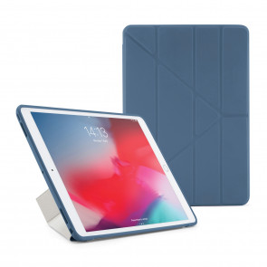 Pipetto iPad Air 10.5 and iPad Pro 10.5 Origami TPU Case Navy and Clear - Front