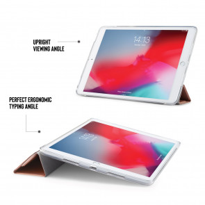 iPad Air 10.5 / Pro 10.5 TPU Metallic Origami - Rose Gold & Clear