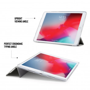 iPad Air 10.5 / Pro 10.5 TPU Metallic Origami - Silver & Clear