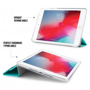 iPad mini 5 / iPad mini 4 Origami TPU Luxe Case - Turquoise & Clear