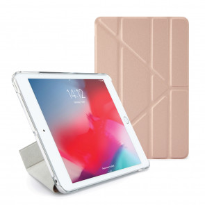 Pipetto iPad mini 5 / iPad mini 4 Origami Metallic Case Rose Gold - Front