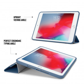 iPad mini 5 / iPad mini 4 Origami TPU Case - Navy & Clear