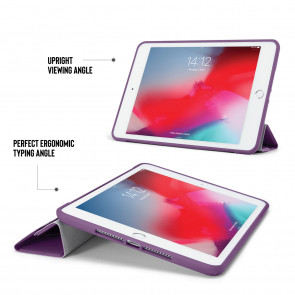 iPad mini 5 / iPad mini 4 Origami TPU Case - Purple & Clear