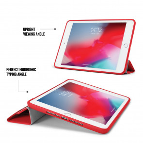 iPad mini 5 / iPad mini 4 Origami TPU Case - Red & Clear