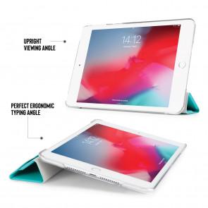 iPad mini 5 / iPad mini 4 Luxe Origami Case - Turquoise & Clear