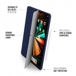iPad Pro 12.9 (3rd, 4th & 5th) Origami No1 Original TPU Case - Dark Blue