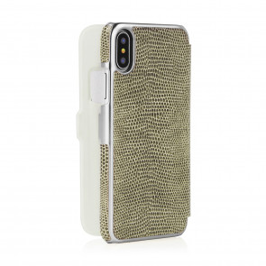 iphone-X-silm-wallet-olive-lizard-back-open
