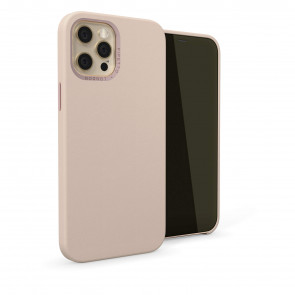 iPhone 12 Pro Max (6.7-inch) 2020 - Magnetic Leather iPhone Case - Dusty Pink