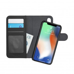 iPhone X/XS Wallet Case [LRG] Magnetic - Black