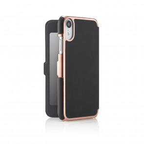iPhone xr slim black rose fold - back open