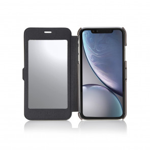 iPhone XR Slim Mirror Case - Black & Rose Gold