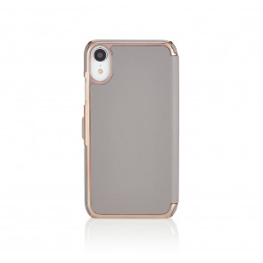 iPhone XR Slim Wallet - Light Grey & Rose Gold