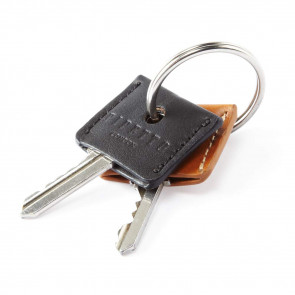 Key Cover Set - Tan Black Leather  (2 per set)