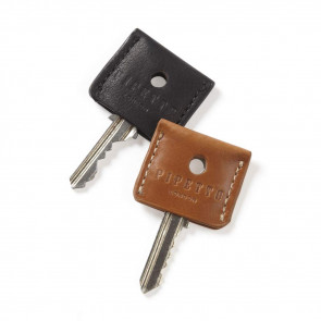 Key Cover Set - Tan Black Leather
