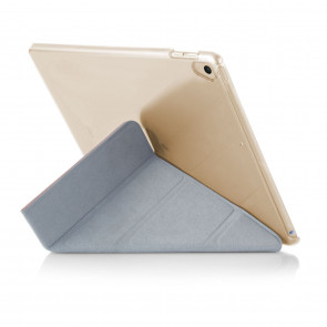 iPad 9.7 (2017) Case Origami Luxe - Dusty Pink & Clear (Air 1 Compatible)