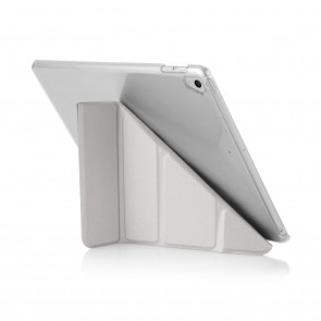 Pipetto 9.7-inch iPad Pro Origami Silver & Clear Case - front