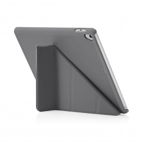 Pipetto iPad 9.7 Origami Dark Grey - front