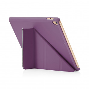 Pipetto 9.7-inch 2017 iPad Origami Original Purple - back exterior