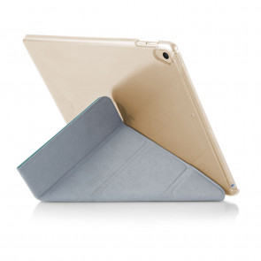 iPad 9.7 (2017) Case Origami Luxe - Turquoise & Clear (Air 1 Compatible)