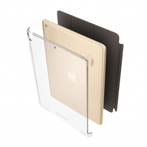 Smart Cover Compatible iPad 9.7 (2017) Protective Clear Shell Cover (Air 1, Air 2 & Pro 9.7 Compatible)