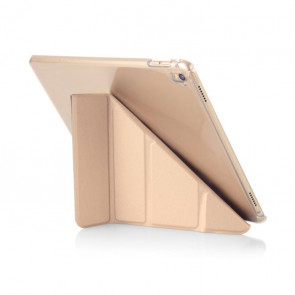 Pipetto 9.7-inch iPad Pro Origami Clear back case & champagne gold cover - back exterior