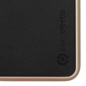 iPhone 6 Saffiano Snap Case - Black Saffiano & Champagne Gold Shell
