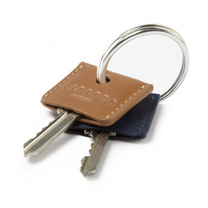Key Cover Set - Ecru & Black Leather