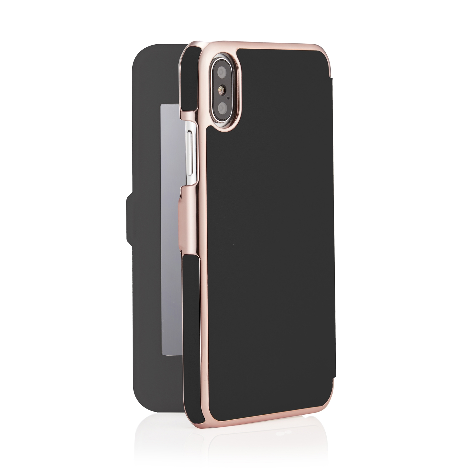 mirror iphone case iphone x black amp gold leather slim wallet 3118