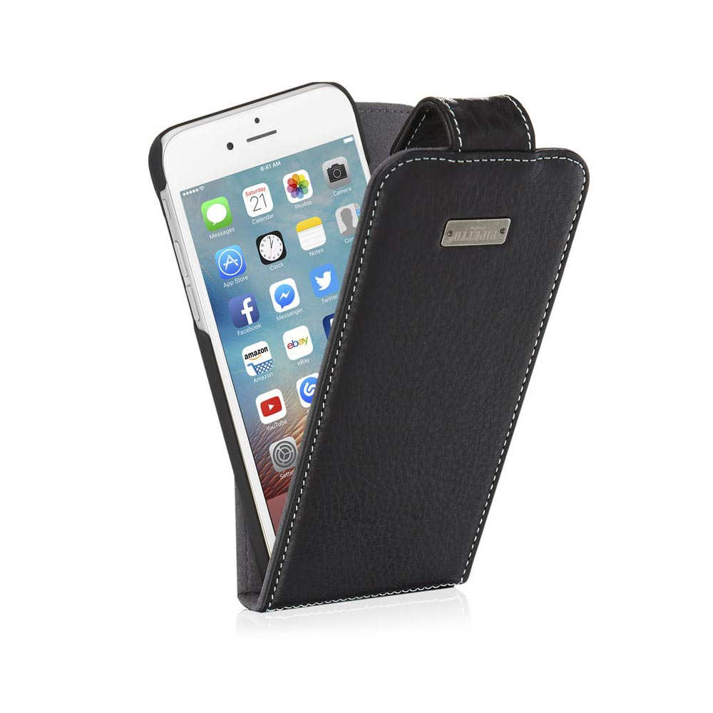 buy online c82c2 a63f8 iPhone 7 Flip Case Magentic - Black (Also Fits iPhone 6/6S and iPhone 8)