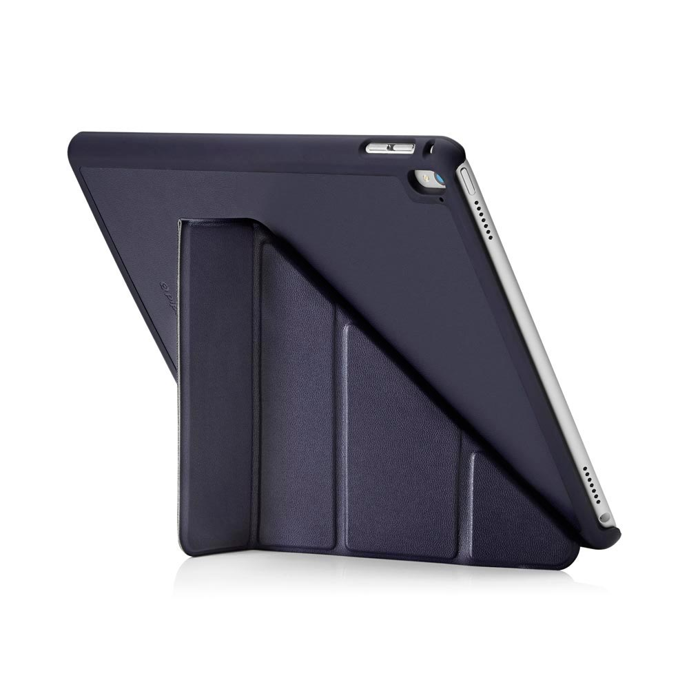 ipad pro 9 7 case origami navy luxury vegan lambskin pipetto. Black Bedroom Furniture Sets. Home Design Ideas