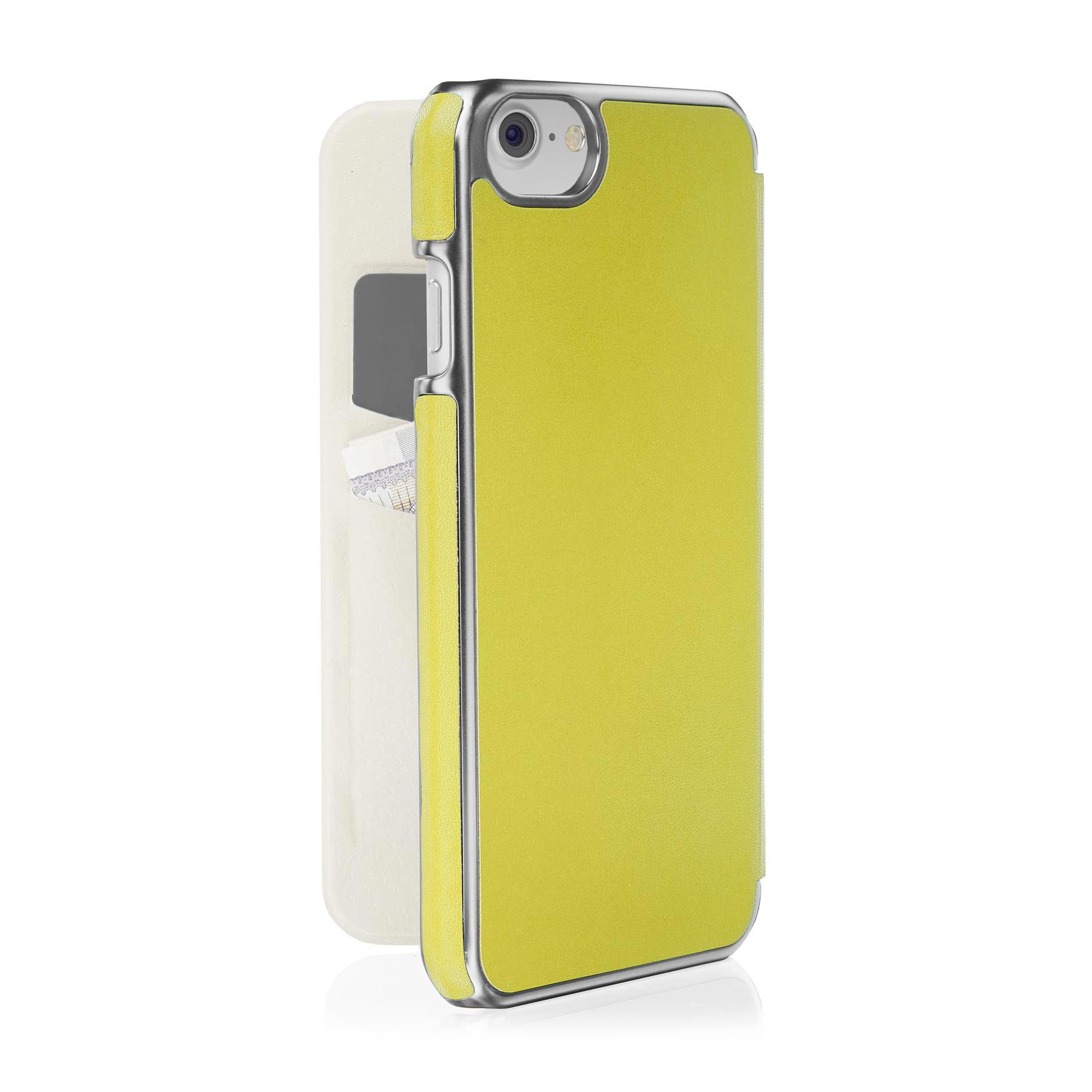 uk availability df31c e6eb5 iPhone 8 Slim Wallet Case - Pistachio Yellow (Also Fits iPhone 6/6S/7)